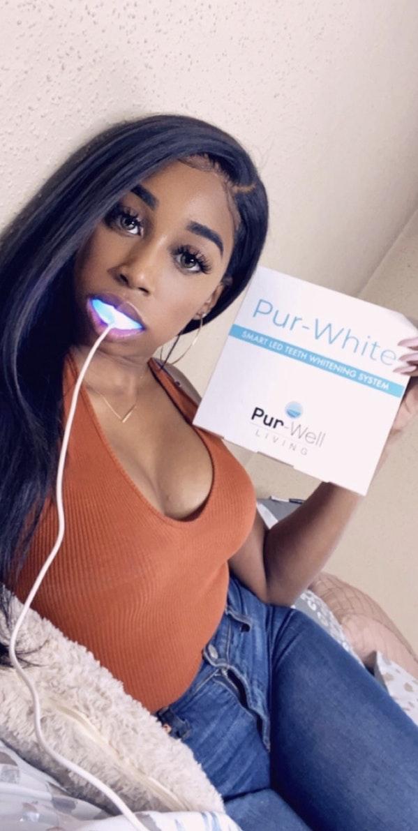 Pur-White Teeth on Instagram