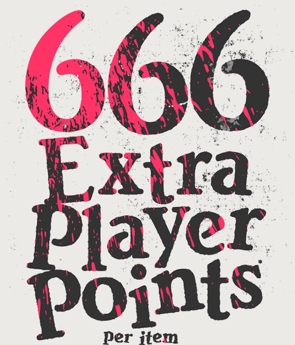 If you're hoarding Player Points like a possessed magpie, get a devilish 666 extra per order - on top of what you already collect - until midnight this Halloween.* No tricks, just treats...