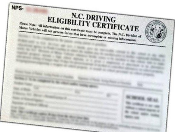 drivers eligibility certificate