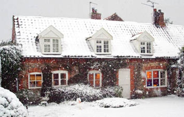 Traditional brick and flint cottage in Norfolk